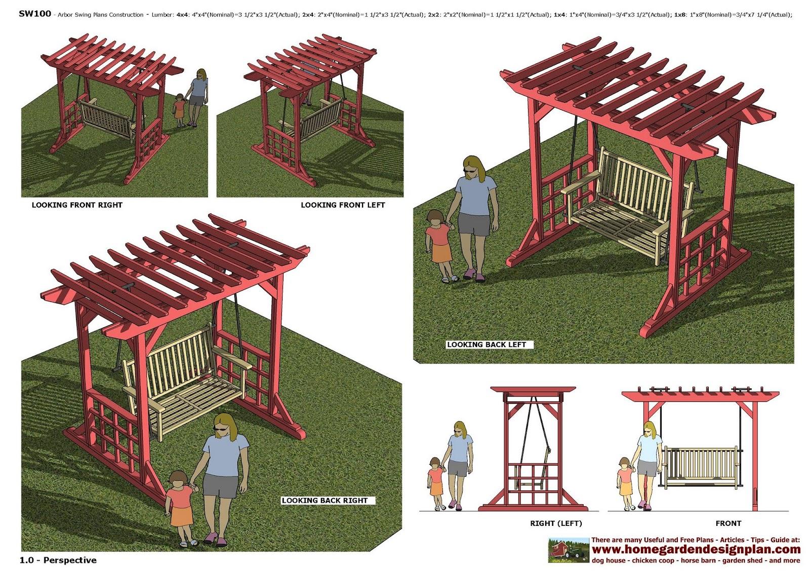 home garden plans Furniture Plans Arbor Swing Plans