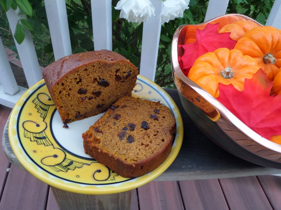 Pumpkin Bread with Chipotle Cranberries