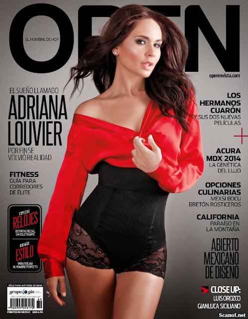 Fotos Adriana Louvier Revista en Open Octubre 2013