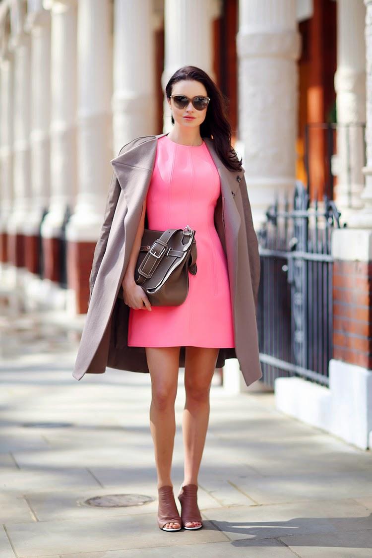 Emma Miller Street Style Idea - Sporty Dress in Block Pink