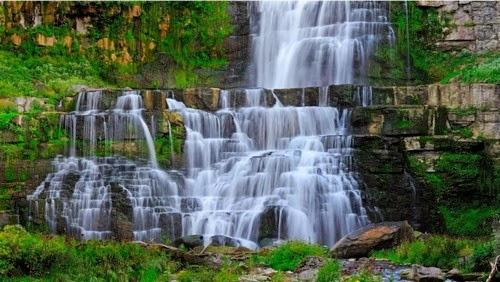 Waterfall Stream Rocks Landscape