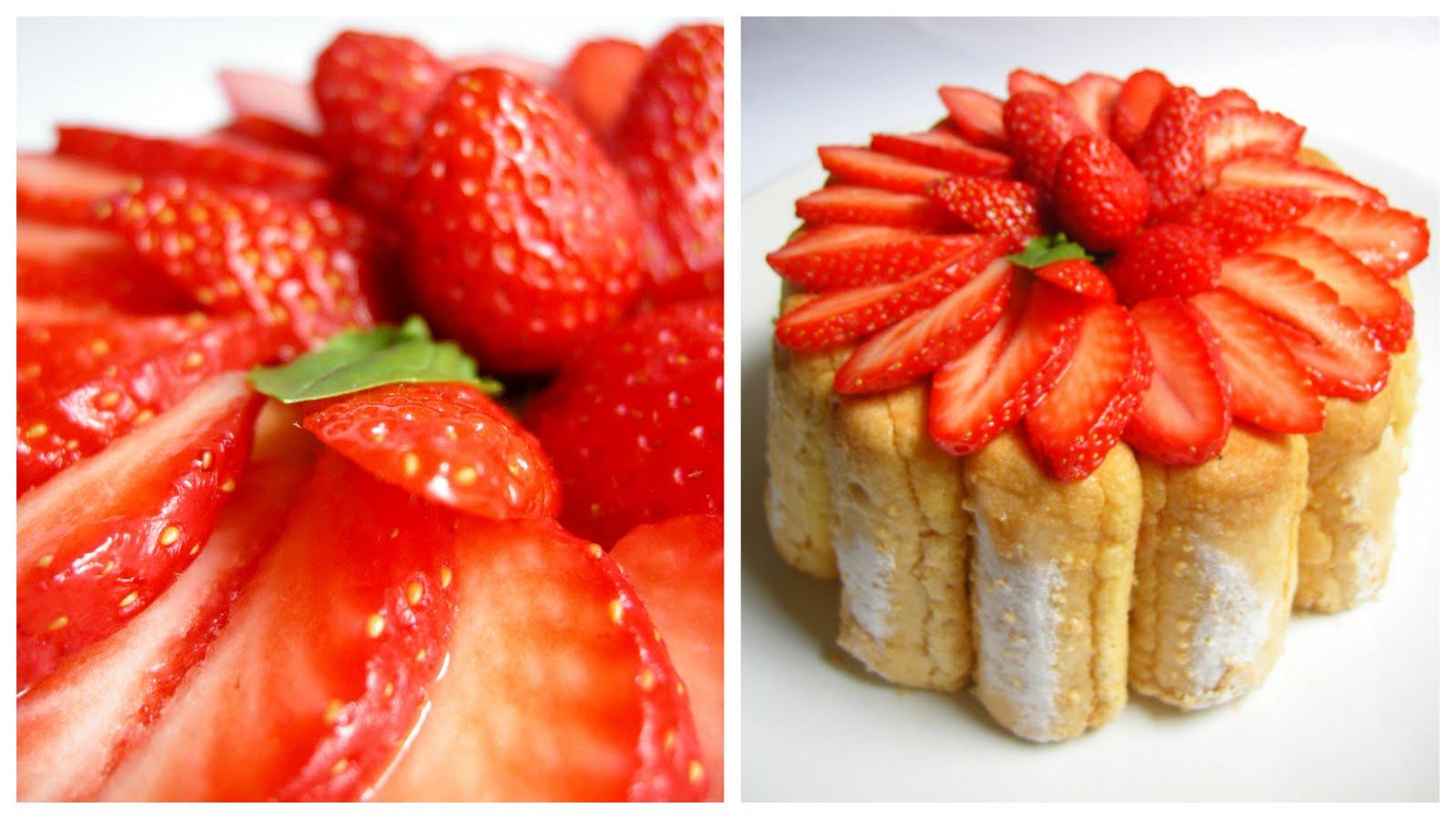 Jeux de charlotte aux fraises gateau home baking for you blog photo - Jeux de charlotte aux fraises cuisine gateaux ...