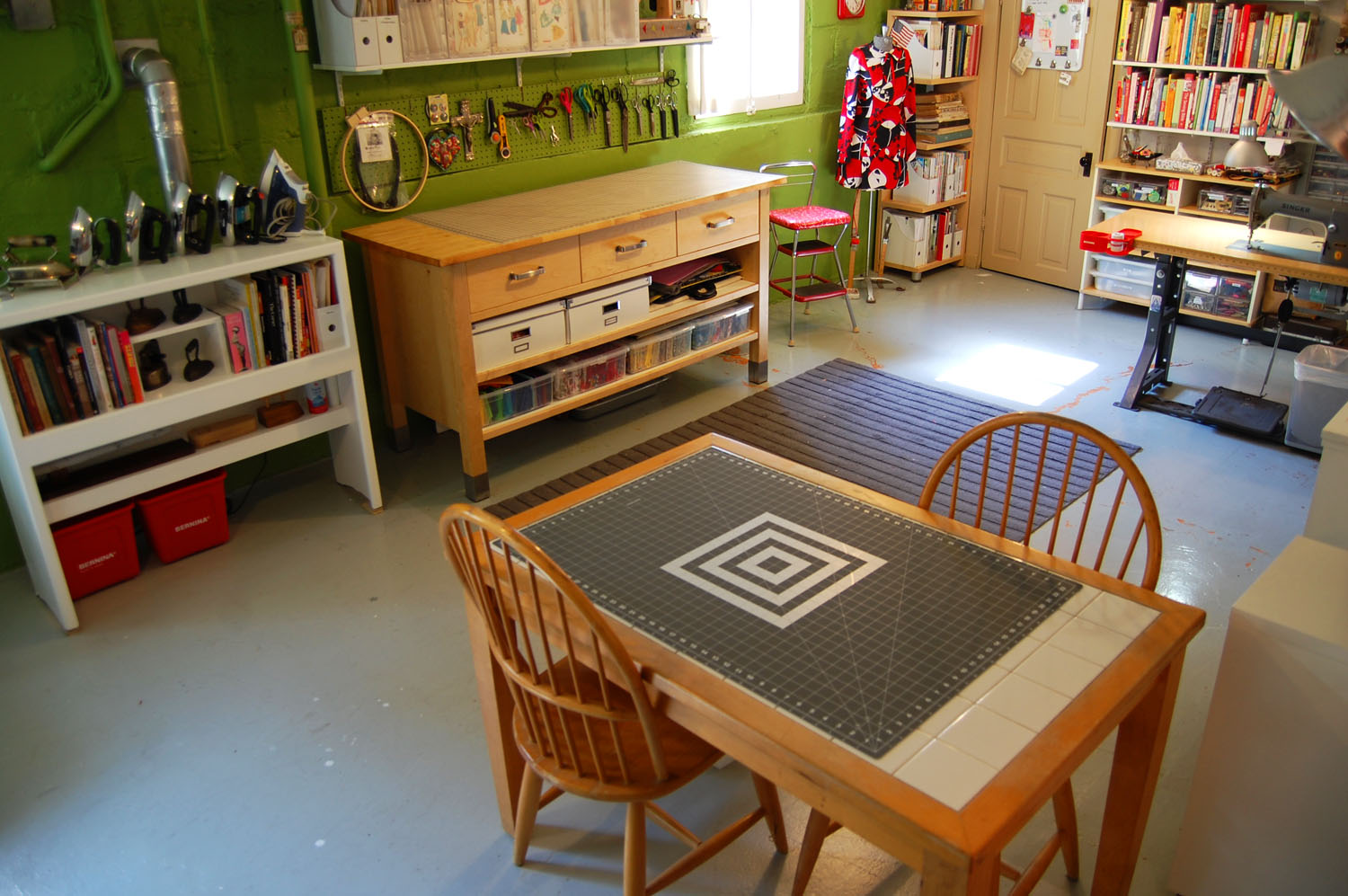 This Is The Sewing Room Now, All Clean As I Just Finished Cleaning Up After  Last Monthu0027s Water Incident   And Ready To Go!