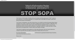 iSchool at Syracuse University Stop Online Piracy Act