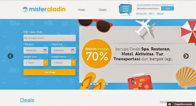 Mister Aladin travel agent website review: Teman Travel Terbaikmu