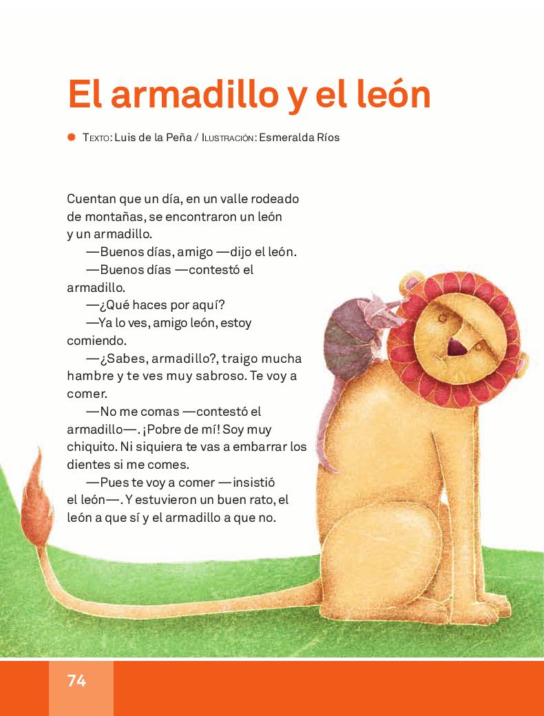El armadillo y el león - Español Lecturas 3ro 2014-2015