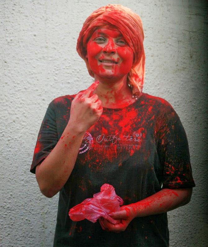 Singer Bappi Lahiri celebrates Holi