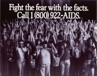 Campaña VIH SIDA 1986 Fight the fear with the facts