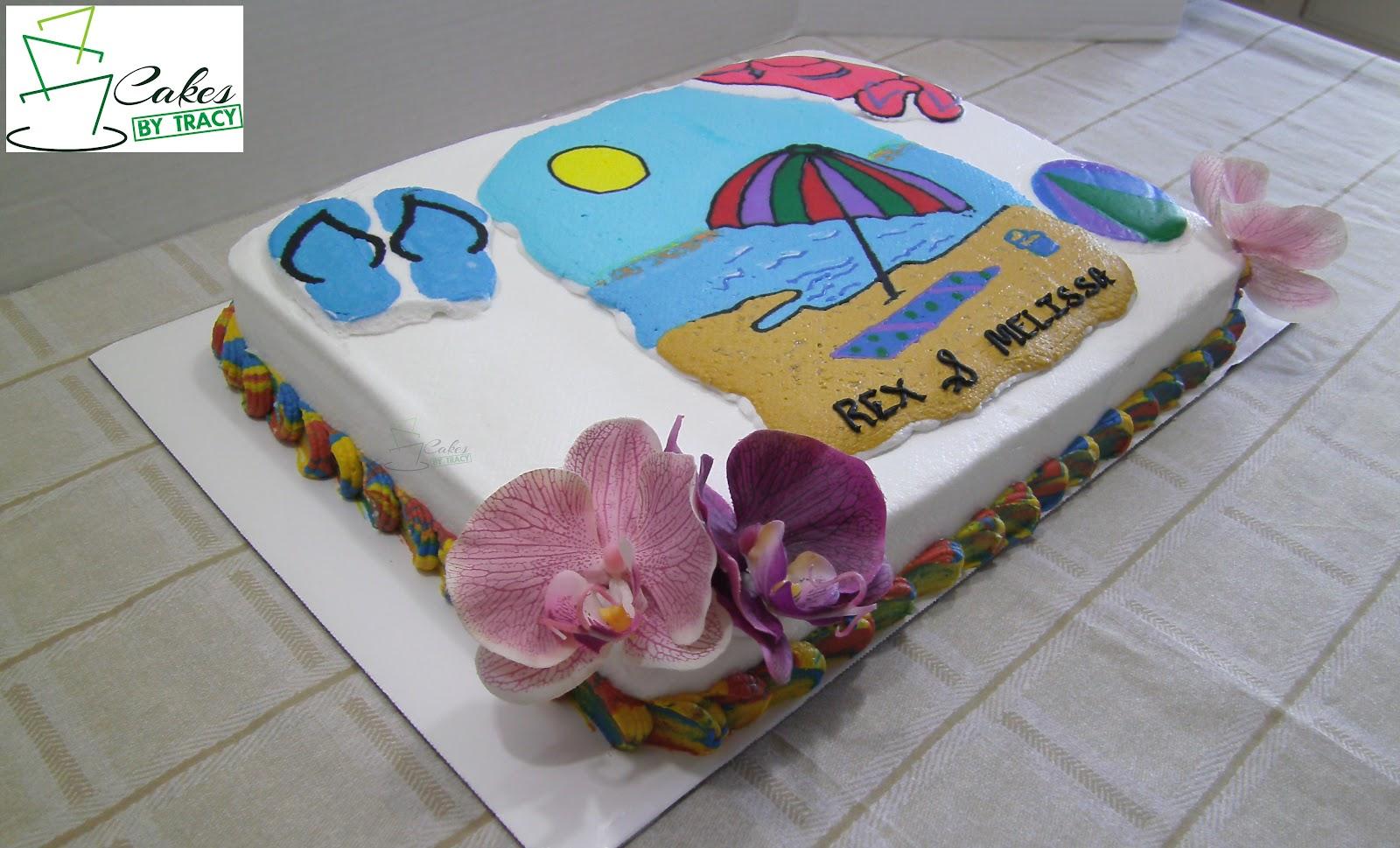 Cakes By Tracy Salem AR Beach Theme Wedding Shower Cake