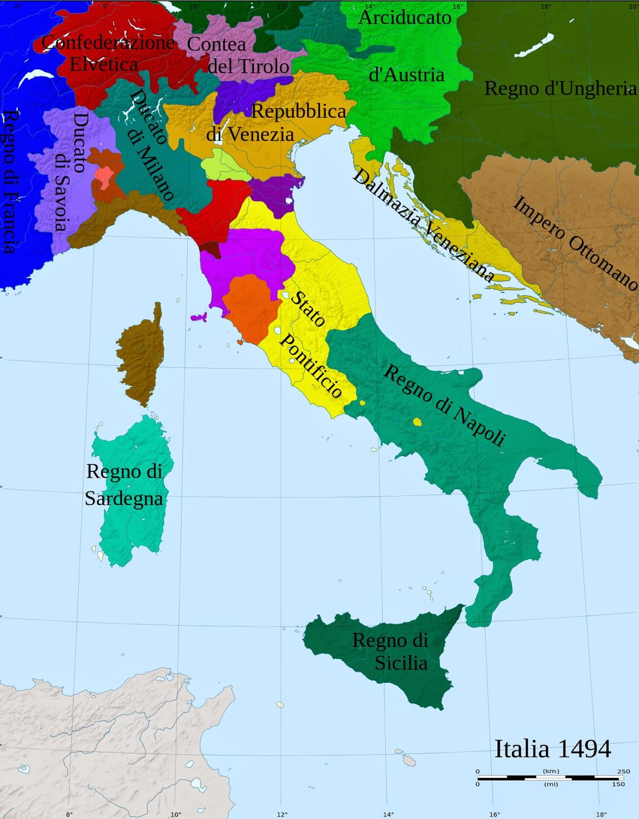 Mapa De Italia Bolonia