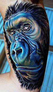 Tatuagens de animais macaco gorila