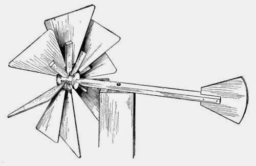 Homemade Wooden Toys - Eight-blade Windmill - Ency123
