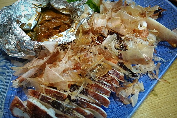 居酒屋ふる里 スルメイカのワタ味噌焼き