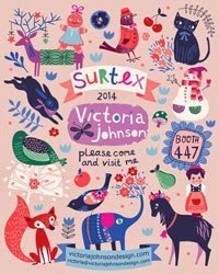Come and see me at Surtex 2014