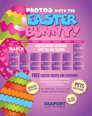 MARCH 2018 EASTER BUNNY SCHEDULE