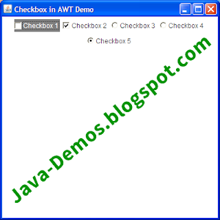 Creating an AWT Checkbox in Java