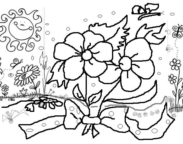 Material de Educación 1º a 8º Básico: dibujos para colorear poemas