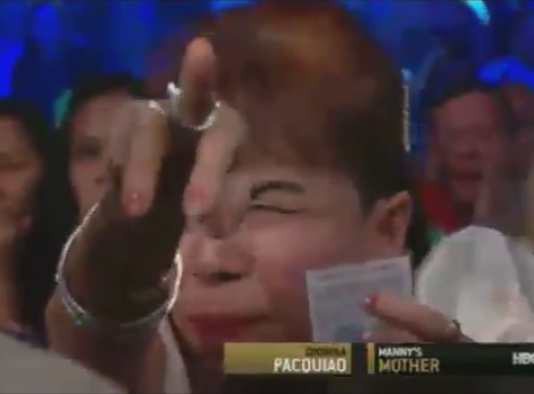 Mommy D at Pacquiao-Bradley 2 fight