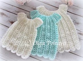 Shells Baby Dress, Size 3-6 Months