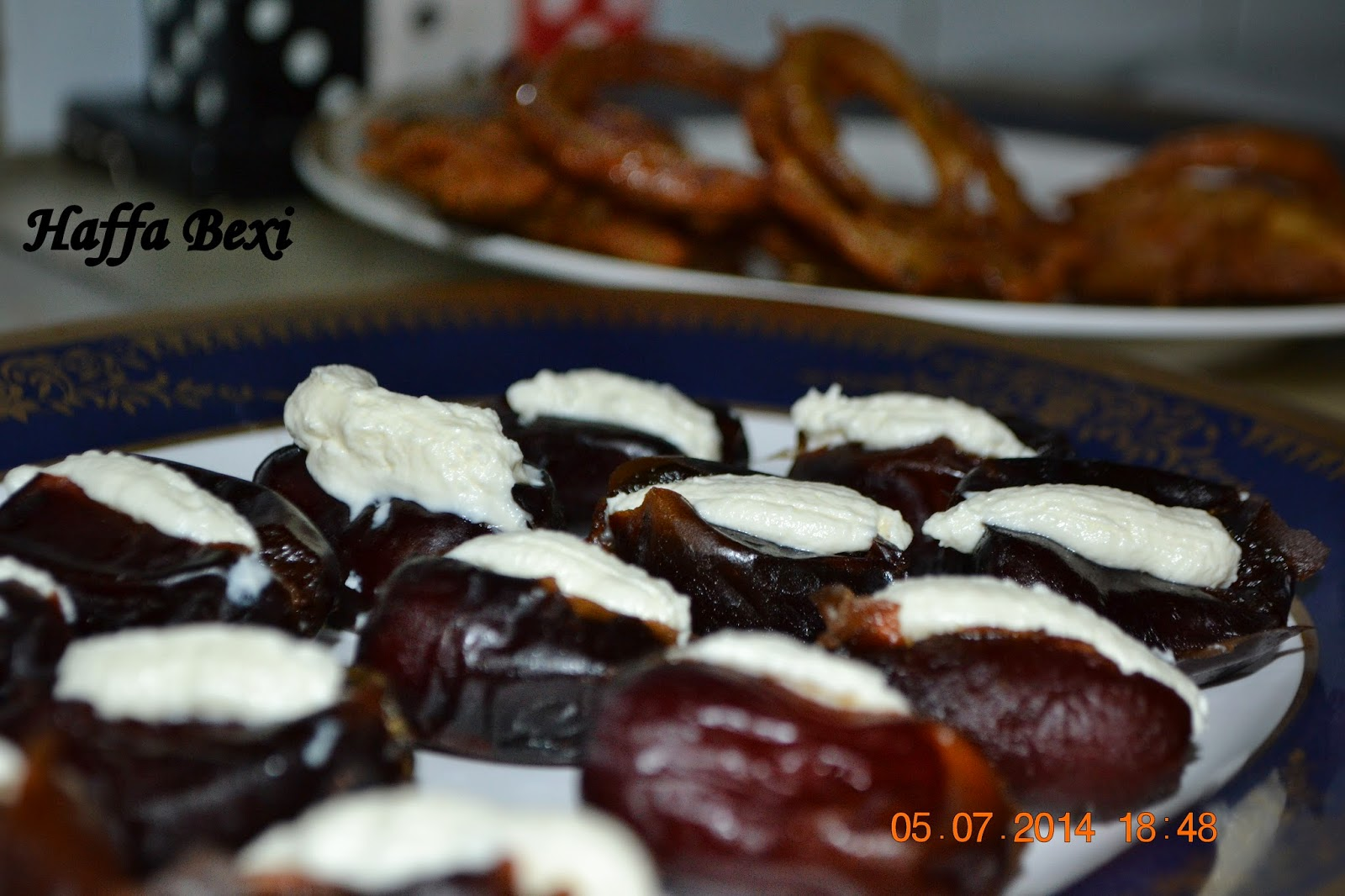 Creamy Almond dates, dates, Ramadan, Ramadan recipes,