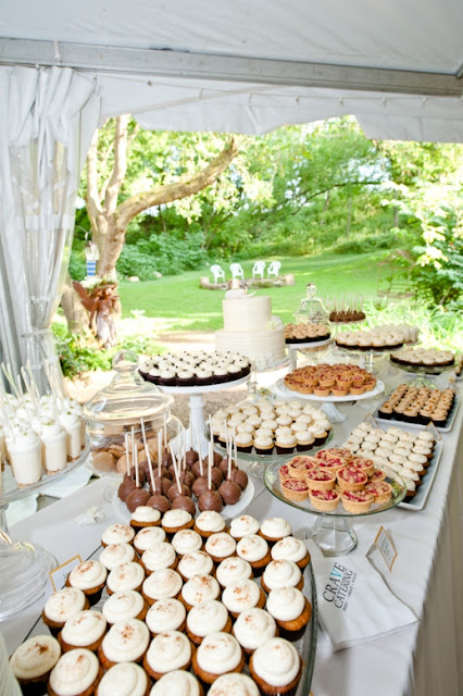 Minneapolis Outdoor Wedding Miniature Dessert Table