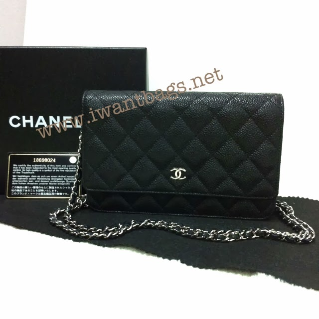 Chanel Classic Quilted WOC Caviar in Black : chanel quilted woc - Adamdwight.com