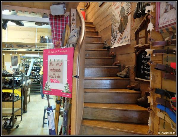 Bon Plan Cordonnier à La Ville à La Montagne boulevard Beaumarchais Paris chaussures montagne boutique chalet suisse