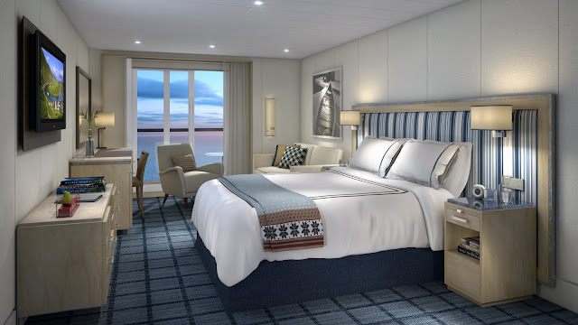 Penthouse Veranda measures in at 338 sq. ft. and features desk with minibar plus a credenza for extra storage. This was the room I had the pleasure of staying in while on board.  Photo: © Viking Cruises. Unauthorized use is prohibited.