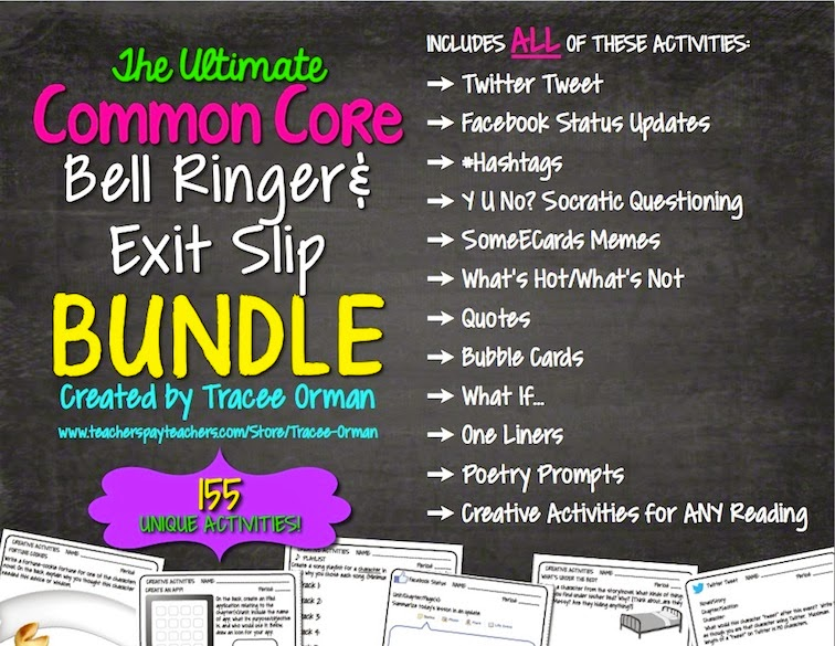 Common Core Bell Ringers & Exit Slips Grades 6-12