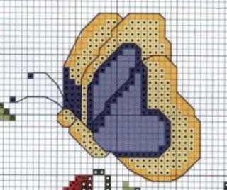 Gráficos para bordado de borboletas