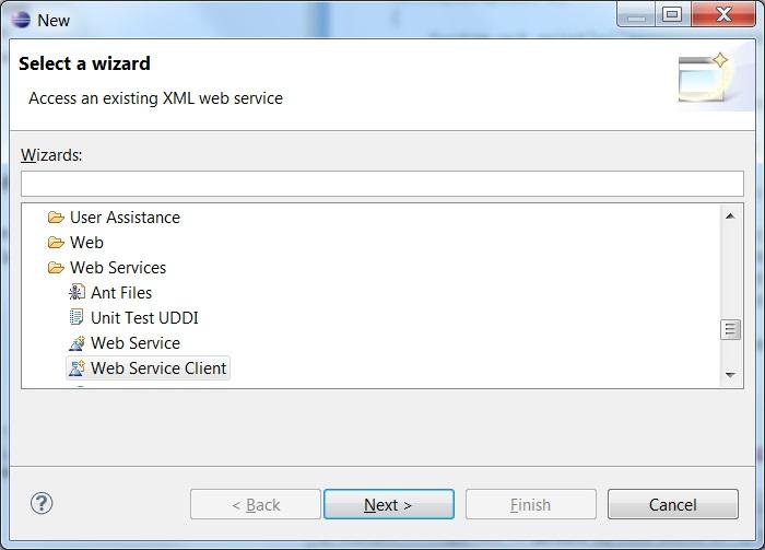 Write a web service client