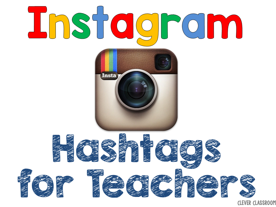 Instagram hashtags for teachers