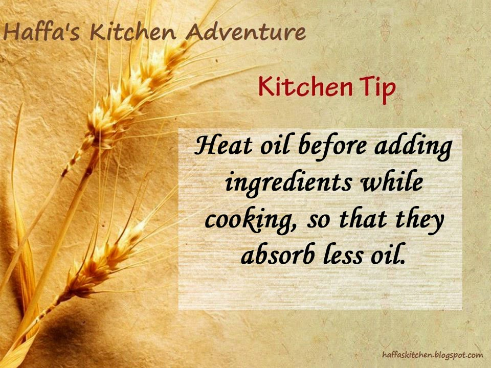Kitchen tips|Cooking tips| Tip to absorb less oil| Haffas kitchen tips| Oil tips| Diet tips