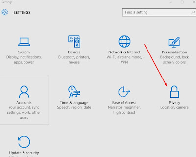 Privacy settings in Windows 10