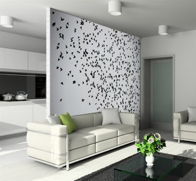 large living room mural theme