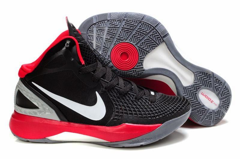 Buy Authentic Nike Hyperdunk Supreme Basketball Shoes Black Red