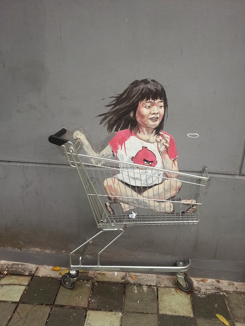 Playful Street Art By Lithuanian Artist Ernest Zacharevic On The Streets of Singapore. 4