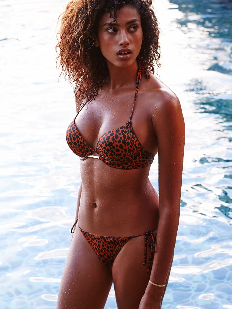Imaan Hammam flaunts bikinis for the Victoria's Secret Swim Lookbook 2016