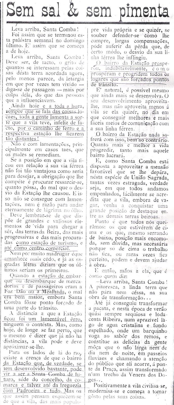 Bairro da Estação, 28 de Agosto de 1927
