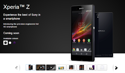 Xperia Z Coming Soon in India
