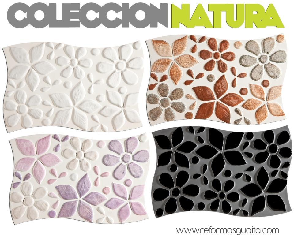 Natura revestimiento de mosaico floral reformas guaita - Azulejos gresite para duchas ...