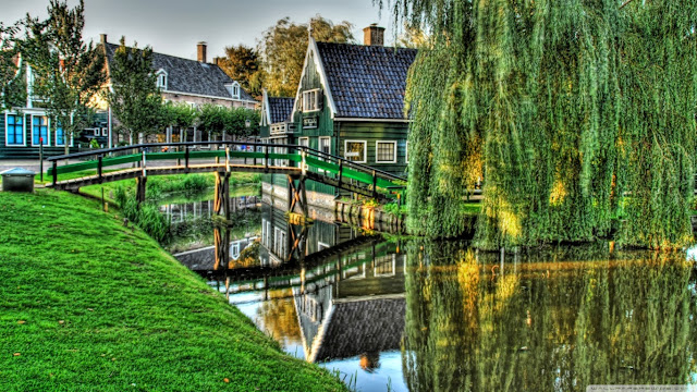 bridge in Holland wallpaper