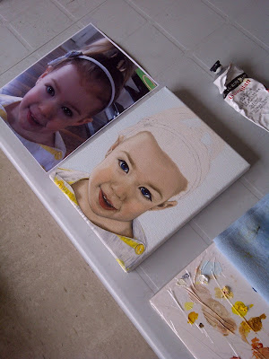 baby portrait, child portrait, portrait artist, portrait painting, baby painting, custom artwork, custom portrait, oil painting, social media portrait promotion