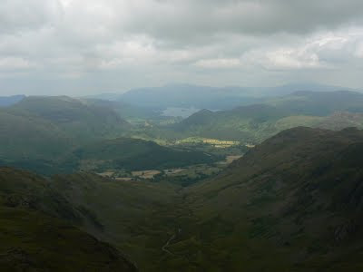 The fabulous view of Comb Gill and Borrowdale from Comb Head