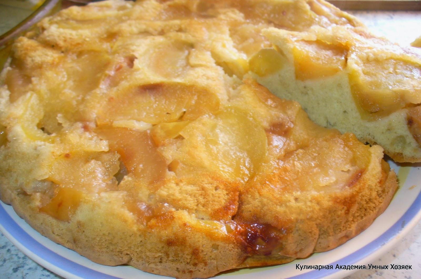 Шарлотка с карамелизированными яблоками рецепт пошагово в духовке
