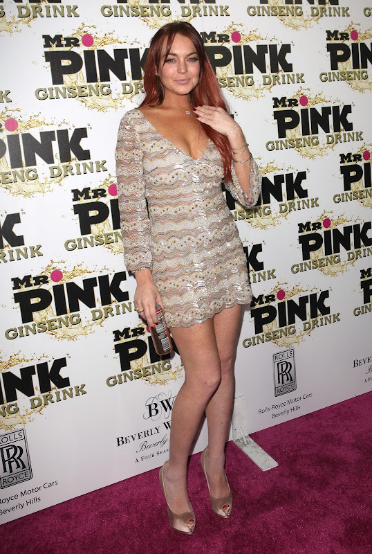 Lindsay Lohan attends Mr. Pink Ginseng Drink Launch Party