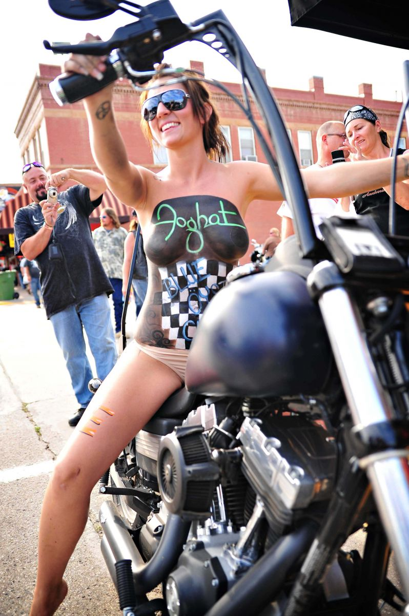 image Bike week hotties in a naughty contest huge tits r1