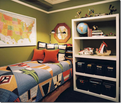 Teenage Boy S Bedroom With Map Mural: Willow Bee Inspired: Well Dressed Home No. 22