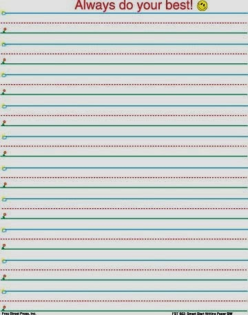 printable writing paper with lines for first grade Check out our collection of primary handwriting paper we made this collection of free printable primary writing paper so that you large lines handwriting paper.
