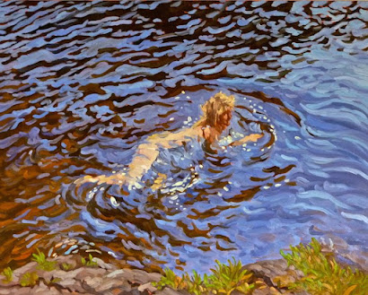 'Water Lover' oil on canvas 24 x 30